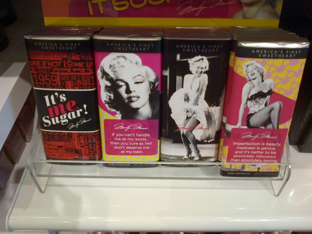And more...Marilyn Monroe inspired chocolate!